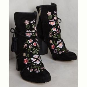 Sam Edelman Floral Embroidered Winnie Ankle Boots